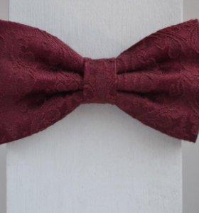 Бордовые галстук бабочки