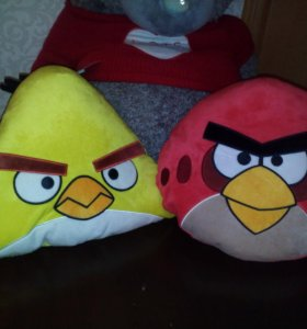 Игрушки подушки Angry Birds