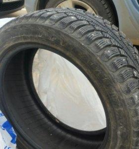 Зимняя резина, комплект б/у 17 радиус 4 колеса.