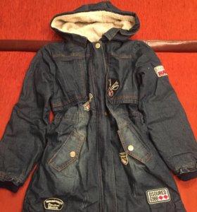 Куртка джинс зима