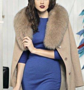 Пальто зимнее с мехом Авалон новое