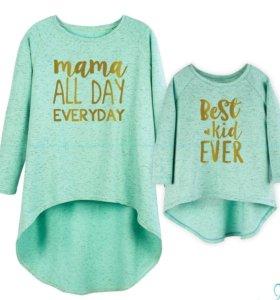 Туника для мамы и дочки (новые)