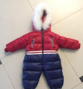 Детский комбинезон + зимний комплект в подарок