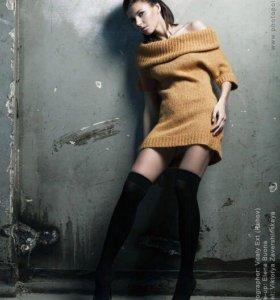 Платье-свитер zara 42-44