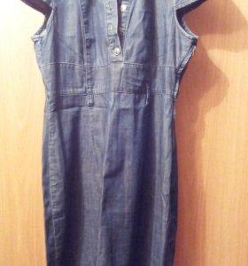 Джинсовое платье размер 48-50