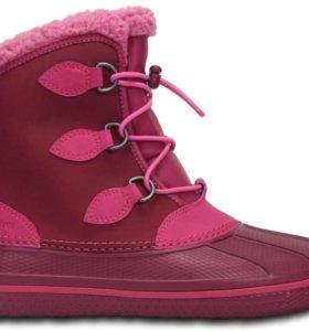 Детские ботинки Crocs AllCast II Boot Kids Berry
