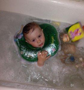 Детская ванночка с датчиком температуры, круг для