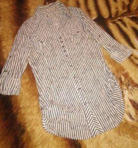 Блузка-рубашка жен