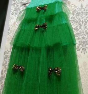 Платье для девочки (костюм ёлка)