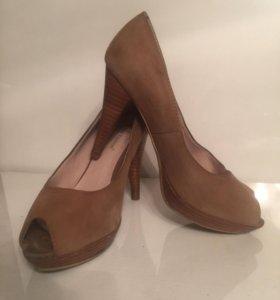 Туфли, натуральная замша, 34