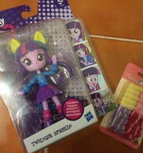 My little pony кукла Twilight sparkle+подарки