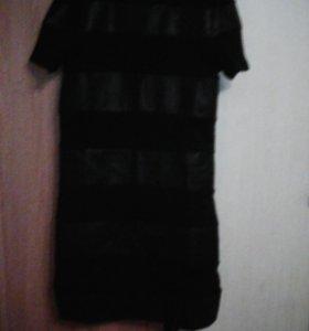 Платье с кожаными ставками!
