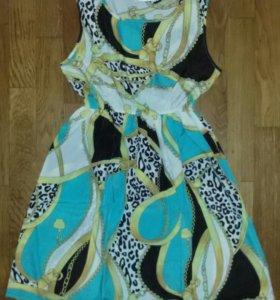 Платье с леопардовым принтом, новое