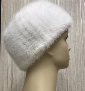 Полоска на голову из натуральной вязаной норки