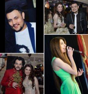 Вокальный дуэт, певец и певица
