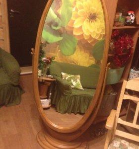 Зеркало напольное, в отличном состоянии .