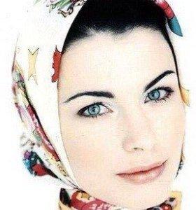 Новый платок косынка Fendi,LV,двойной аталсн шелк