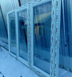 Окно пластиковое 1400х2020(с одним стеклом)новое.