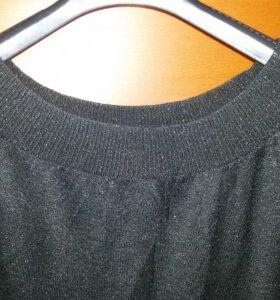 Платье люрекс чёрное