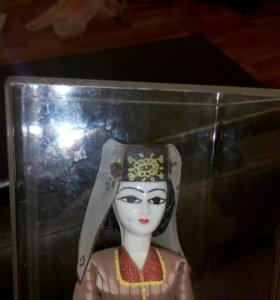 Кукла ретро фарфоровая