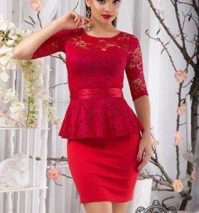 НОВОЕ! Вечернее платье с баской.