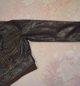 Куртка укороченная кожзам