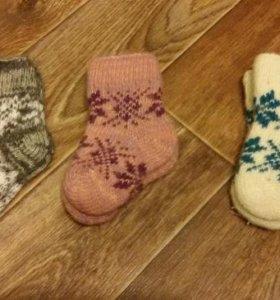 Детские шерстяные носочки