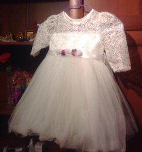 Платье белое пышное