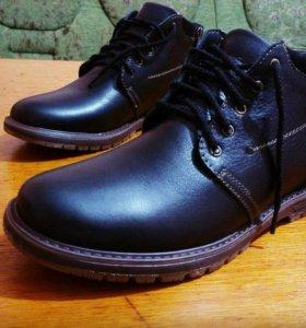Хорошего качества кожа и работы, зимняя обув