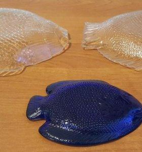 Набор тарелок в форме рыбок