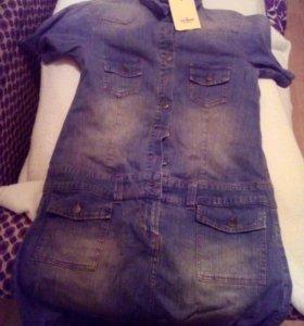 Платье джинсовое новое