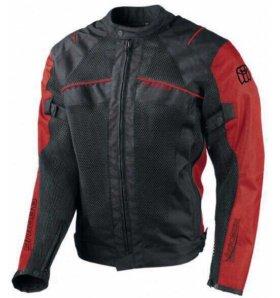 BERING куртка текстиль Hybrid Черный Красный