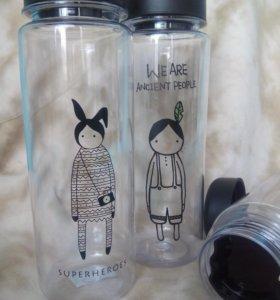 Пластиковая многоразовая бутылочка