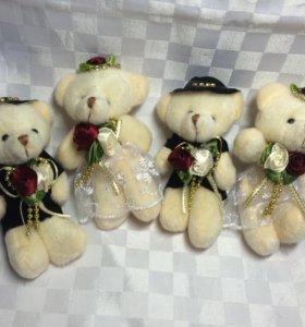 Игрушки для букетов ( Жених и Невеста).