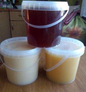 Мёд липовый,цветочный и цветочный с гречкой