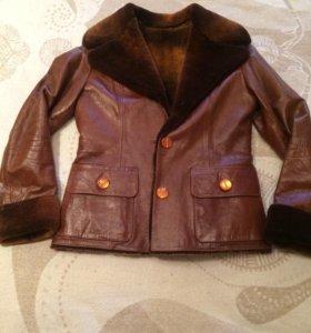 Куртка женская кожаная на весну и осень👍