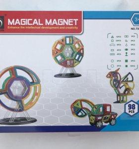 Магнитный конструктор 98 деталей новый