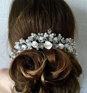 Украшение для волос 👰🏼свадебная диадема