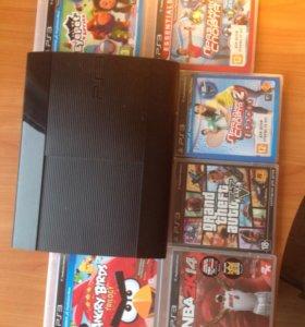 PlayStation 3 500gb +джойстик+ игры(на картинке)