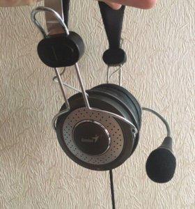 Наушники с микрофоном, стереогарнитура