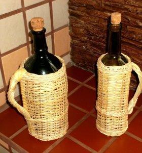 Плетеные подарочные бутылки