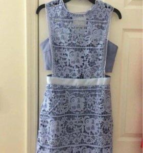 Платье кружевное,фиолетовое