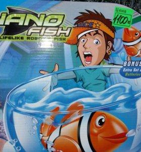 Рыбо плавает в воде