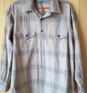 Рубашка джинсовая L