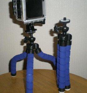 Гибкий монопод смартфоны экшнкамеры синий