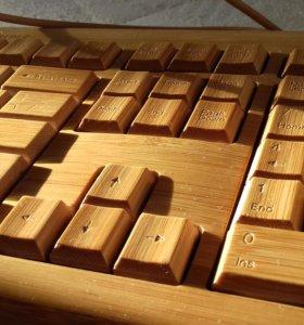 Usb клавиатура бамбук