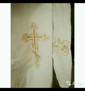 Рубашка для крещения с вышивкой
