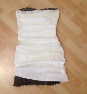 Стильное,комбинированное,красивое платье!