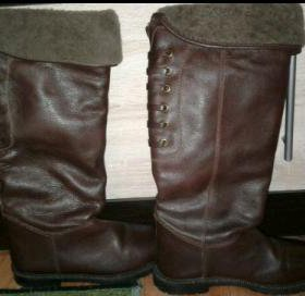 Сапоги женские новые зимние кожаные