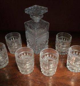 Bohemia Штоф графин, 6 стаканов